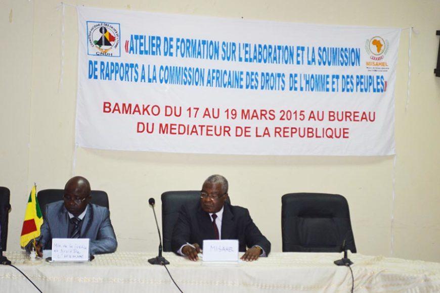 Formation des ONG | Atelier de formation sur l'élaboration et la soumission de rapports à la Commission Africaine des Droits de l'Homme et des Peuples
