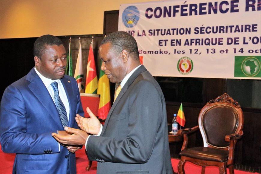 Tête-à-tête entre SEM Pierre Buyoya, Haut Représentant de l'UA pour le Mali et le Sahel et Chef de la MISAHEL, et SEM Faure Gnassingbé, Président du Togo