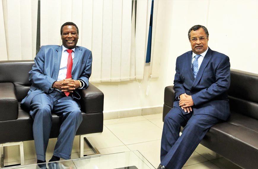 Rencontre entre SEM Pierre Buyoya, Haut Représentant de l'UA et Chef de la MISAHEL, et SEM Mahamat Saleh Annadif, RSSG de l'ONU