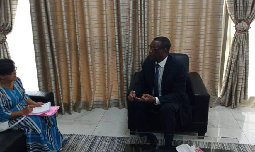SEM Pierre Buyoya , Chef de la MISAHEL a reçu en audience  Me Helen Cisse née NGUYEN VAN ROT, avocate au barreau du Sénégal