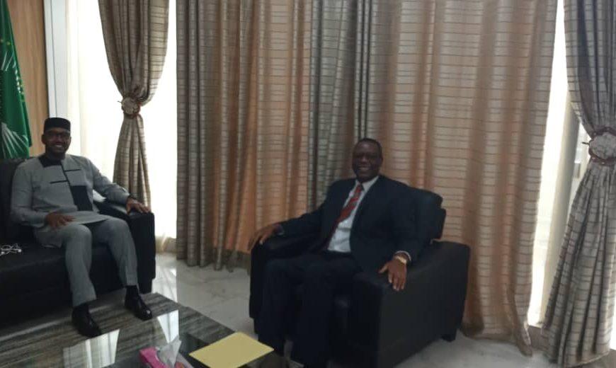 Haut Représentant de l'Union africaine pour le Mali et le Sahel , a reçu en audience SEM Moustapha Ben Barka, Secrétaire Général de la Présidence de la République du Mali