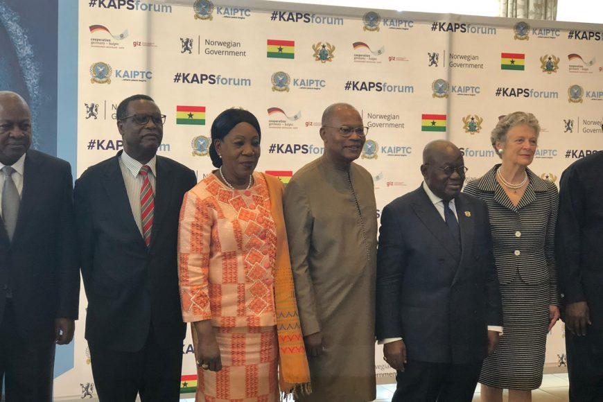 SEM le Président Buyoya, Haut Représentant de L'Union africaine au Mali ( MISAHEL) est l' invité spécial au Kofi Annan Peace and Security Forum