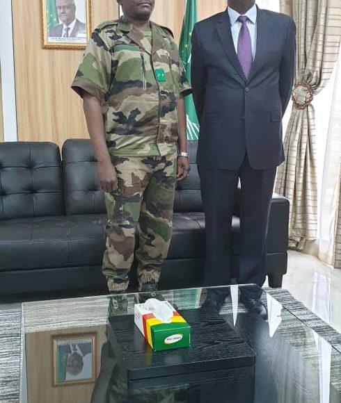 Le HR de l'Union africaine au Mali a reçu le Brigadier Général Oumarou NAMATA commandant de la Force conjointe G5-Sahel