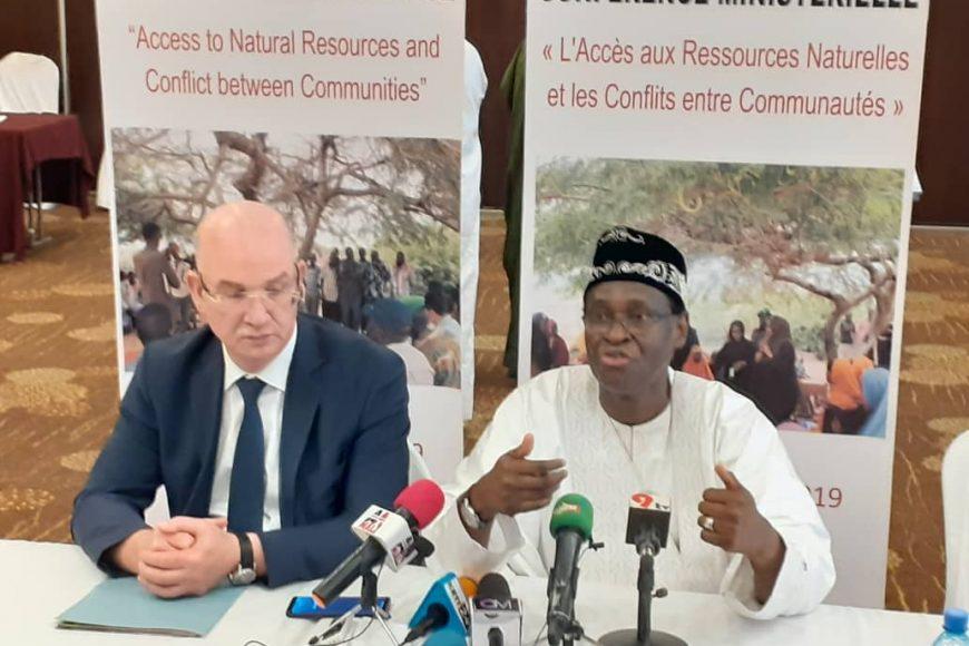 Conférence de presse conjointe à la clôture de la conférence ministérielle sur l'accès aux ressources naturelles et conflits entre communautés