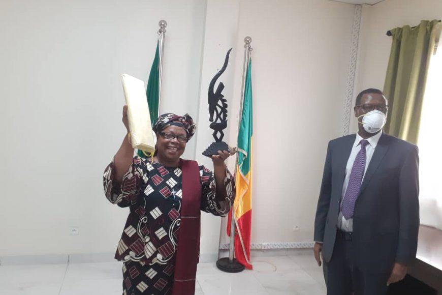 Cérémonie d'au revoir à Mme SAIZONOU Gisèle Gayet de la MISAHEL – 3 juin 2020