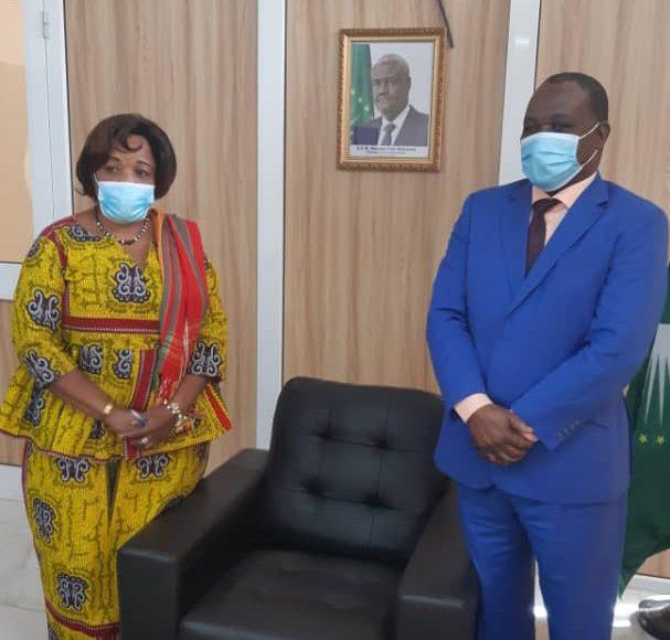 Le Chef de la MISAHEL par intérim, M. Fulgence ZENETH a reçu en audience l'Honorable Faida Mwangilwa, Conseillère spéciale d'ONU Femmes au Mali (10 mars 2021 )