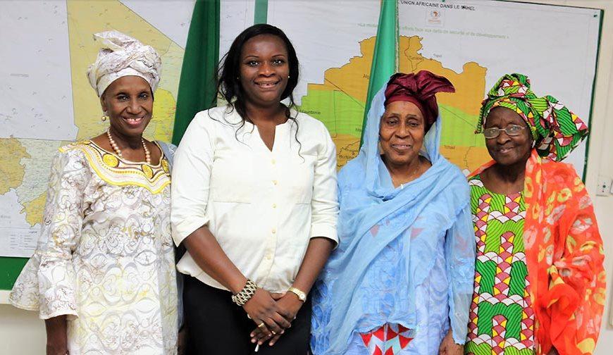 Rencontre de travail ce 14 novembre 2017,  avec le collectif des femmes du Mali COFEM