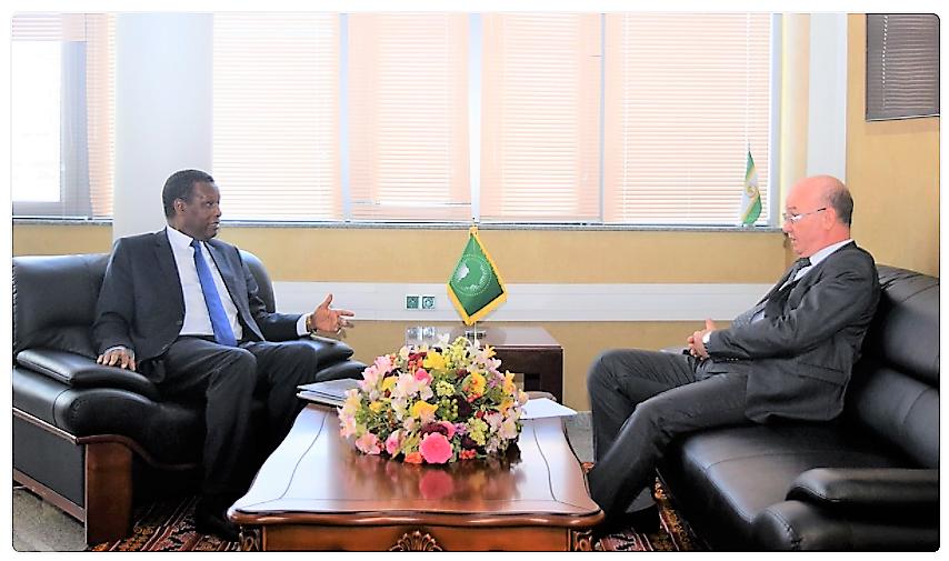 Rencontre à Addis Abéba entre le Président Pierre Buyoya et le Commissaire Chergui
