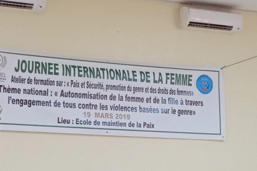 L'atelier sur la paix et sécurité et promotion du genre et droits des femmes