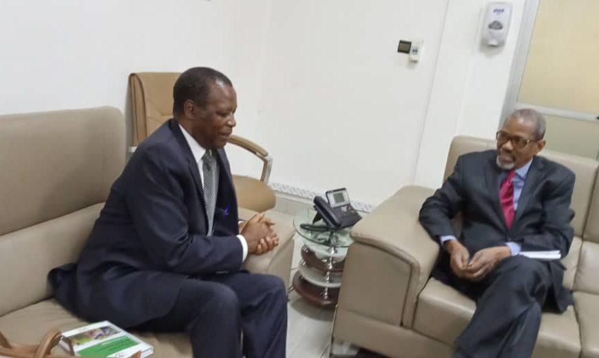 Audience au ministère de l'administration territoriale et de la décentralisation : le Ministre de l'administration territoriale s'entretient avec le Haut Représentant de l'Union africaine pour le Mali et le Sahel