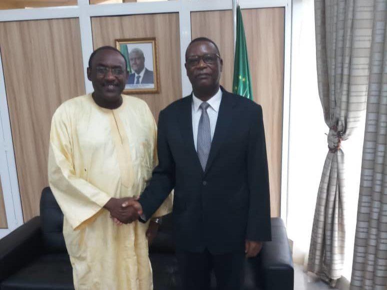Son Excellence M. Pierre Buyoya, Haut Représentant de l'Union africaine pour le Mali et le Sahel reçoit en audience SEM Hamidou Boly, Représentant spécial du Président de la Commission de la CEDEAO au Mali