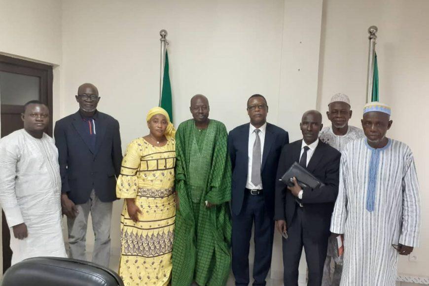 SEM Pierre Buyoya , Haut Représentant de l'Union africaine pour le Mali et le Sahel a reçu en audience Dr Abdoulaye Niang,  Président de la coordination Nationale de Veille stratégique et citoyenne