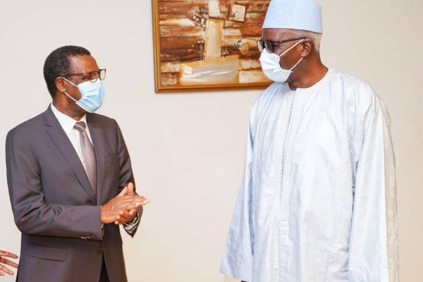 Le HR Pierre Buyoya reçu par SEM Bah N'Daw, le nouveau président de la transition