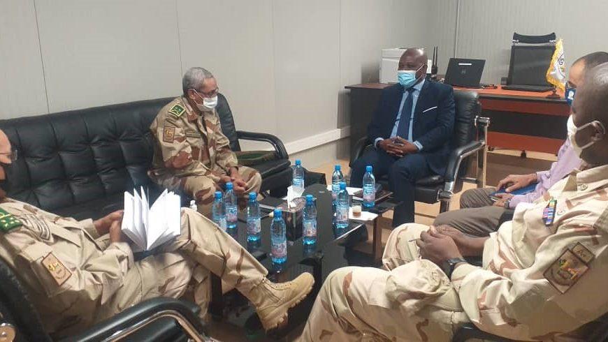 M. Fulgence ZENETH, Chef de la MISAHEL par intérim en audience au G5 Sahel à Bamako (09-02-2021)