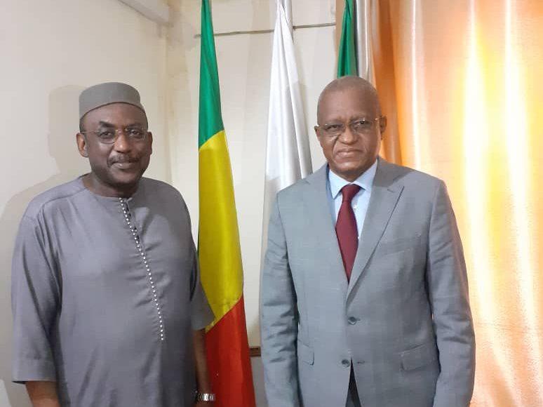 Visite de Courtoisie de SEM Maman Sidikou, Haut Représentant de l'Union africaine pour le Mali et le Sahel à SEM le Représentant spécial de la CEDEAO au Mali.